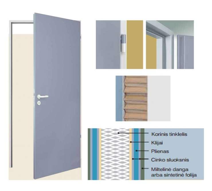 ZK vidinės plieninės durys