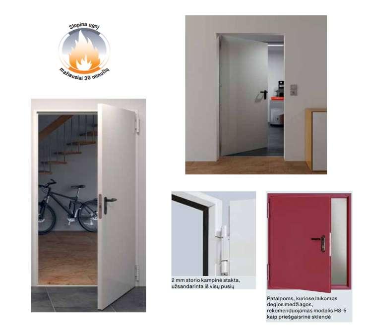 Priešgaisrinės durys H8-5 T-30 durys