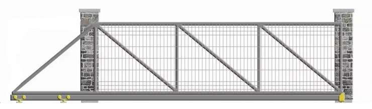 Nustumiami kiemo vartai su tinklo užpildu