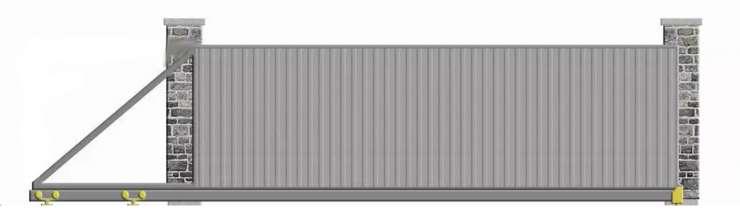 Nustumiami kiemo vartai plieno skardos užpildas